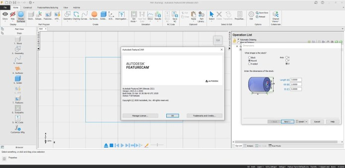 Working with Autodesk FeatureCAM Ultimate 2021.0.1 full license