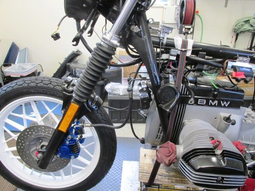 Front Brake System Installed-Left Side