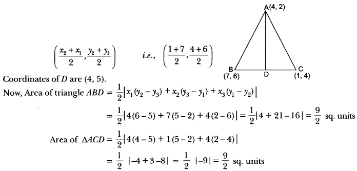 Coordinate Geometry Class 10 Extra Questions Maths Chapter 7 with Solutions Answers 58