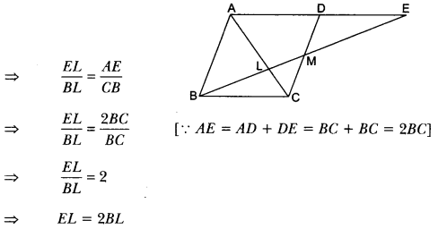 Triangles Class 10 Extra Questions Maths Chapter 6 with Solutions Answers 85
