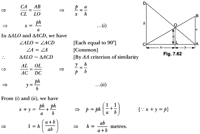 Triangles Class 10 Extra Questions Maths Chapter 6 with Solutions Answers 82