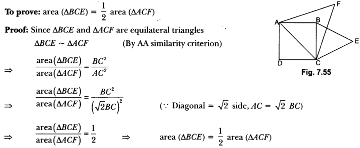 Triangles Class 10 Extra Questions Maths Chapter 6 with Solutions Answers 72
