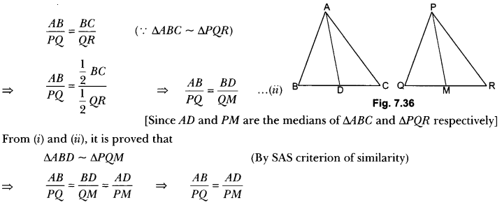 Triangles Class 10 Extra Questions Maths Chapter 6 with Solutions Answers 47