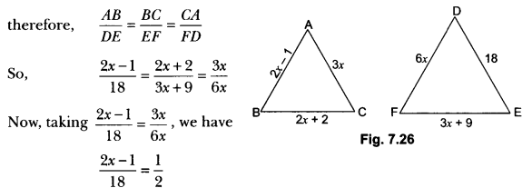 Triangles Class 10 Extra Questions Maths Chapter 6 with Solutions Answers 36