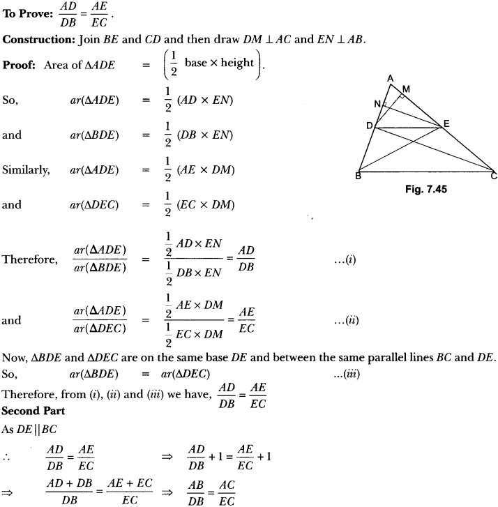 Triangles Class 10 Extra Questions Maths Chapter 6 with Solutions Answers 61
