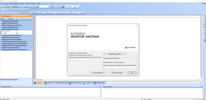Working with Autodesk Inventor Nastran 2021.1 R1 full license