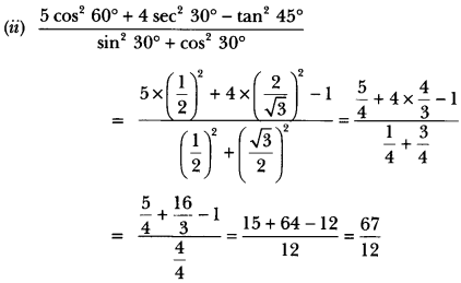 Introduction to Trigonometry Class 10 Extra Questions Maths Chapter 8 with Solutions Answers 29