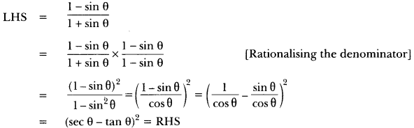 Introduction to Trigonometry Class 10 Extra Questions Maths Chapter 8 with Solutions Answers 8