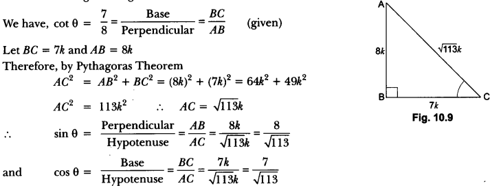 Introduction to Trigonometry Class 10 Extra Questions Maths Chapter 8 with Solutions Answers 51