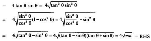 Introduction to Trigonometry Class 10 Extra Questions Maths Chapter 8 with Solutions Answers 75