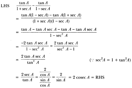 Introduction to Trigonometry Class 10 Extra Questions Maths Chapter 8 with Solutions Answers 20