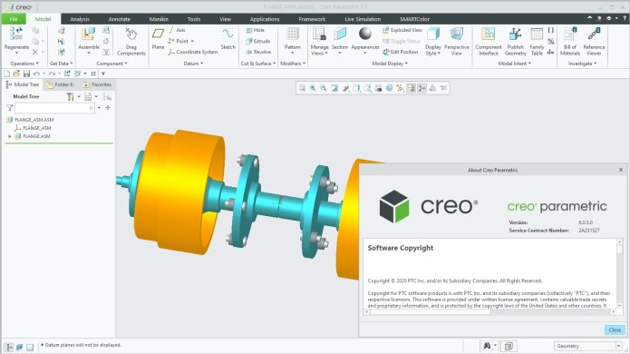 Working with PTC Creo 6.0.5.0 full license
