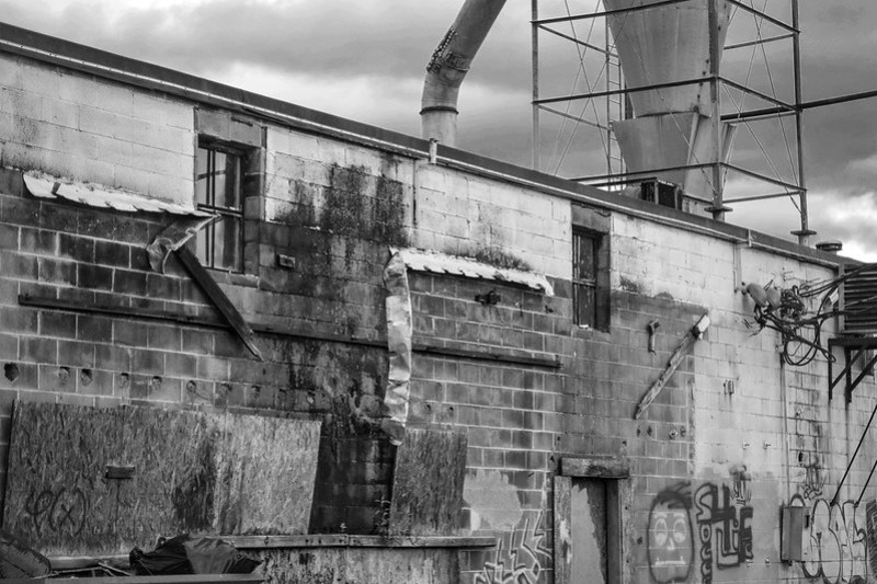 exterior detail, Asheville WastePaper Co., railroad-river district, Asheville, NC, Nikon D3300, nikon nikkor 55mm f-3.5, 8.23.20