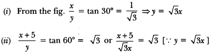 Some Applications of Trigonometry Class 10 Extra Questions Maths Chapter 9 with Solutions Answers 51