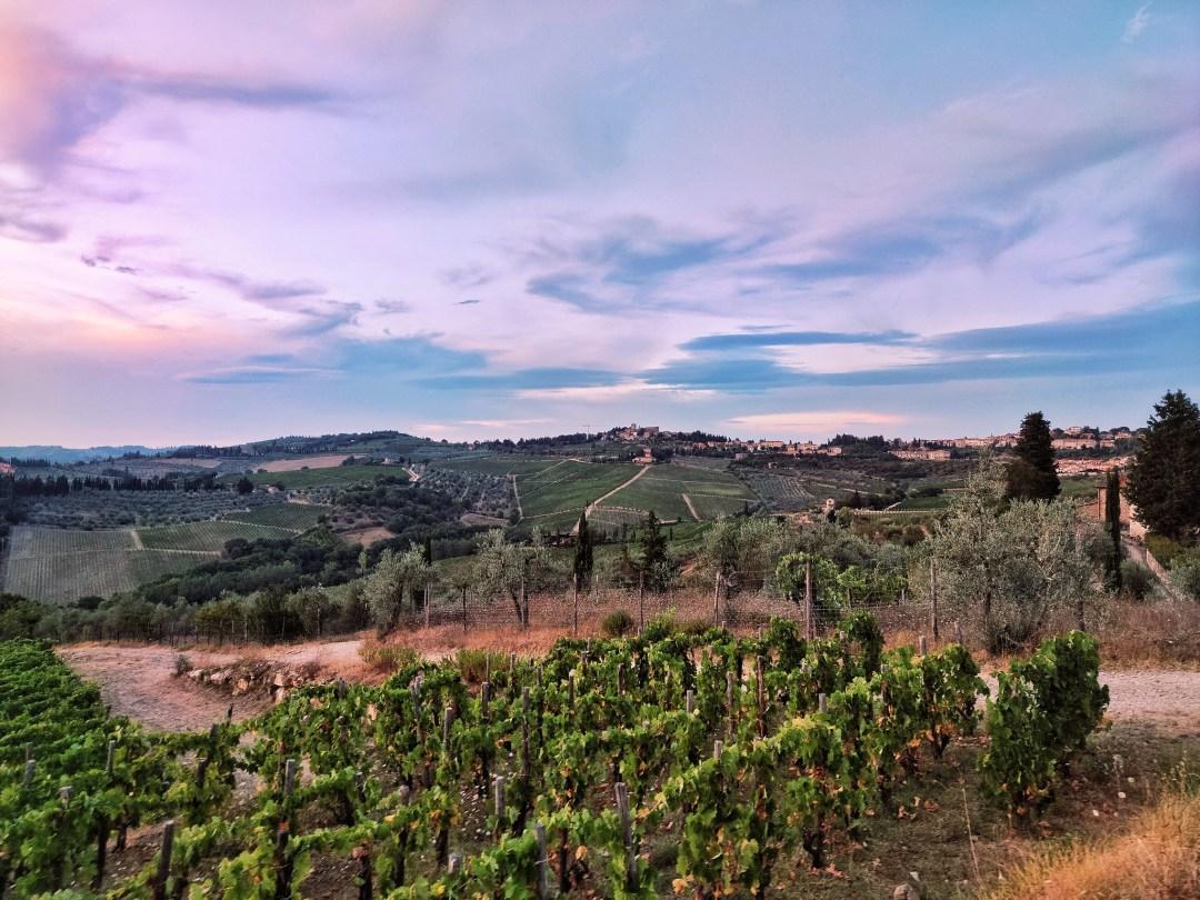 Tramonto nel Chianti, Panzano