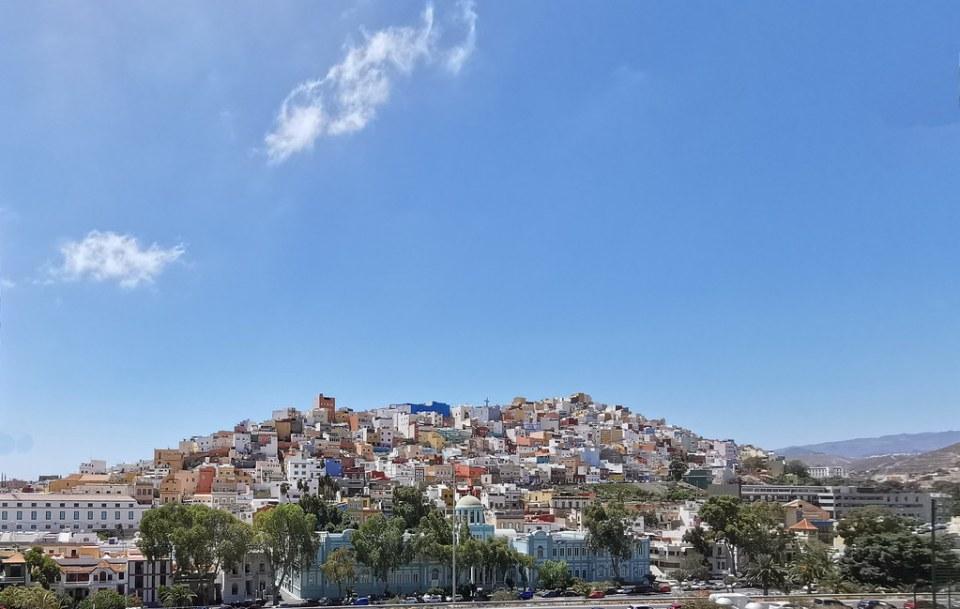 vista panorámica del Risco o Barrio de San Juan Las Palmas de Gran Canaria Islas Canarias