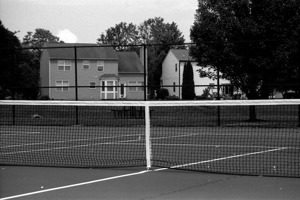 Tennis net, underexposed
