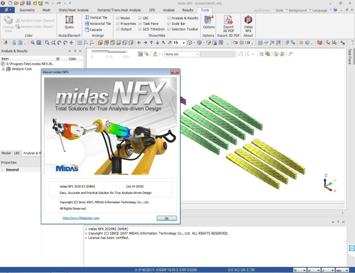 Working with midas NFX 2020 R2 full license