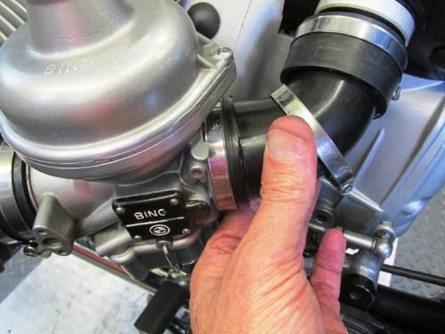 Slide Carburetor Air Horn On Carburetor Inlet