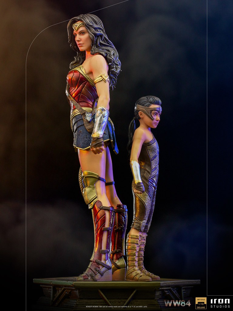 Iron Studios《WW1984》神力女超人&兒時黛安娜 豪華版 1/10比例雕像 | 玩具人Toy People News