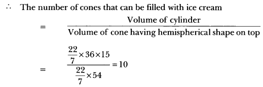 Surface Areas and Volumes Class 10 Extra Questions Maths Chapter 13 with Solutions Answers 76
