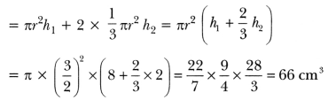 Surface Areas and Volumes Class 10 Extra Questions Maths Chapter 13 with Solutions Answers 63