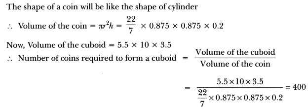 Surface Areas and Volumes Class 10 Extra Questions Maths Chapter 13 with Solutions Answers 34