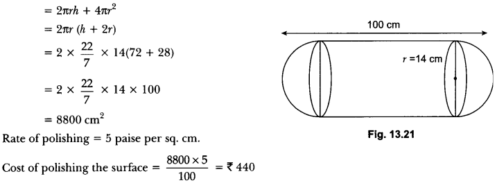 Surface Areas and Volumes Class 10 Extra Questions Maths Chapter 13 with Solutions Answers 44