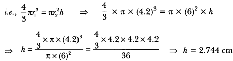 Surface Areas and Volumes Class 10 Extra Questions Maths Chapter 13 with Solutions Answers 30