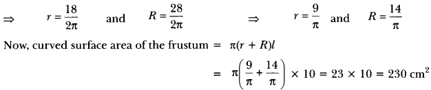 Surface Areas and Volumes Class 10 Extra Questions Maths Chapter 13 with Solutions Answers 11