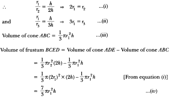 Surface Areas and Volumes Class 10 Extra Questions Maths Chapter 13 with Solutions Answers 102