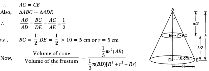 Surface Areas and Volumes Class 10 Extra Questions Maths Chapter 13 with Solutions Answers 80