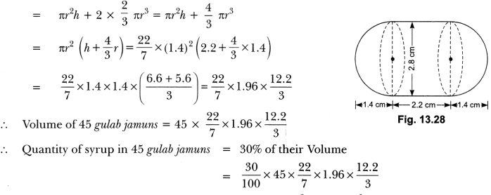 Surface Areas and Volumes Class 10 Extra Questions Maths Chapter 13 with Solutions Answers 65