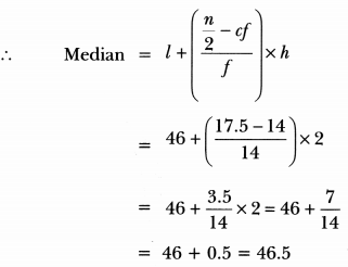 Statistics Class 10 Extra Questions Maths Chapter 14 with Solutions Answers 40