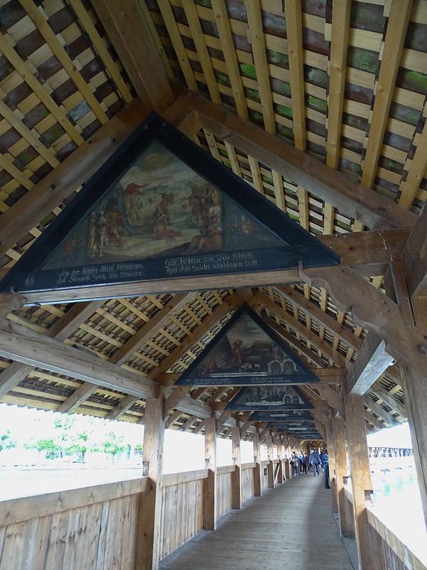 pinturas interior Puente de la Capilla Kapellbrückey rio Reuss Lucerna Suiza 02