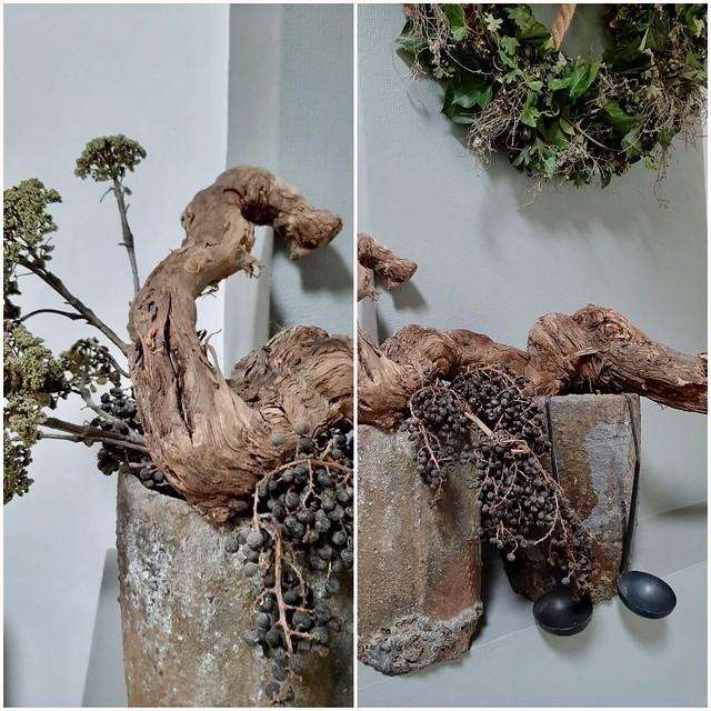Antieke gietpotten dadeltak druiventak