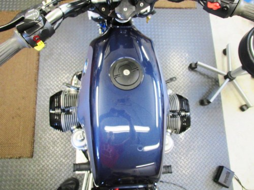 Gas Tank Installed On Frame