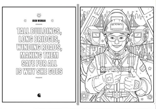 Carhartt Labor Day colouring book