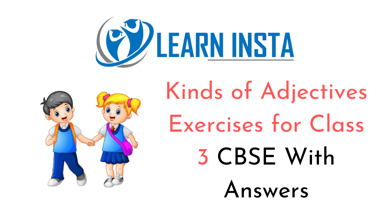 Kinds of Adjectives Exercises for Class 3 CBSE with Answers