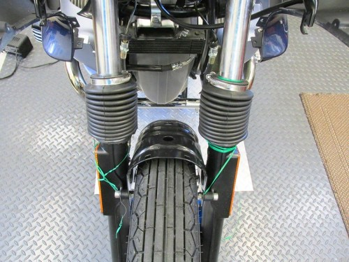Compressing Fork Gaiters Makes It Easier To Install Middle Center Panel