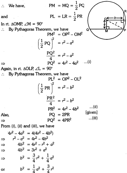 Circles Class 9 Extra Questions Maths Chapter 10 with Solutions Answers 28