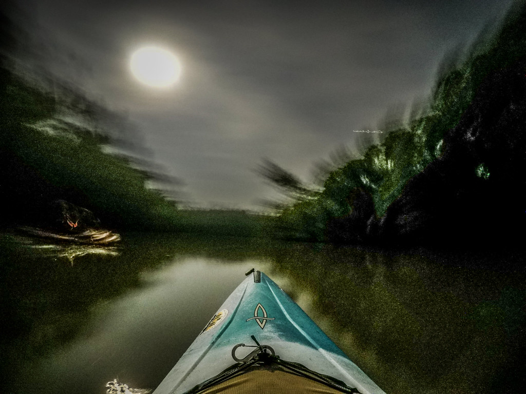 Moonlight Paddle on the Saluda River-21