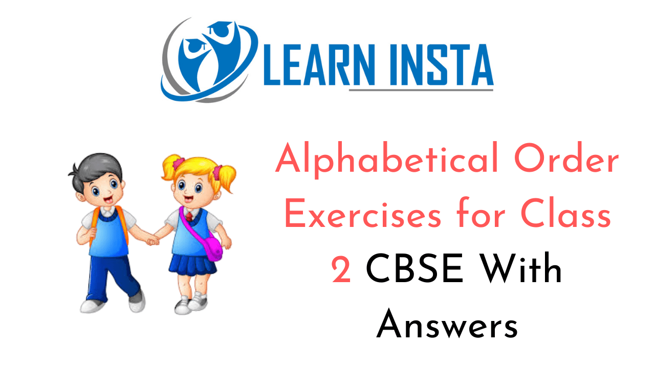 Alphabetical Order Worksheet Exercises for Class 2 Examples with Answers CBSE