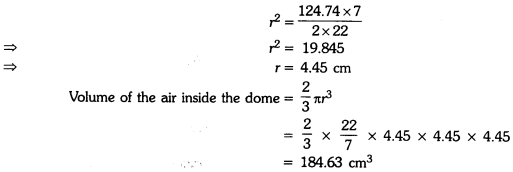 Surface Areas and Volumes Class 9 Extra Questions Maths Chapter 13 with Solutions Answers 9