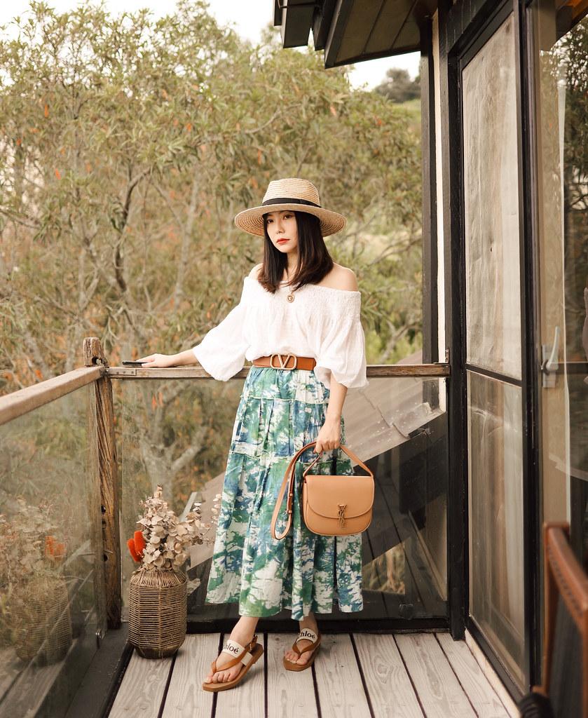 妹妹的秘密:Saint Laurent Kaia Medium YSL 實背+ Chicwish花裙 + Valentino腰帶