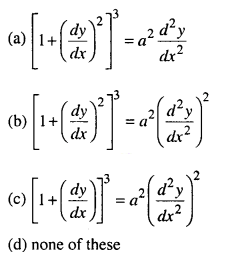 Maths MCQs for Class 12 with Answers Chapter 9 Differential Equations Q5