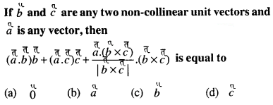 Maths MCQs for Class 12 with Answers Chapter 10 Vector Algebra Q53