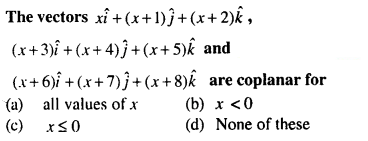 Maths MCQs for Class 12 with Answers Chapter 10 Vector Algebra Q63