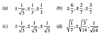 Maths MCQs for Class 12 with Answers Chapter 11 Three Dimensional Geometry Q1