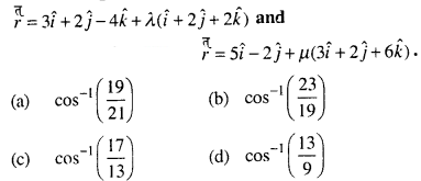 Maths MCQs for Class 12 with Answers Chapter 11 Three Dimensional Geometry Q29